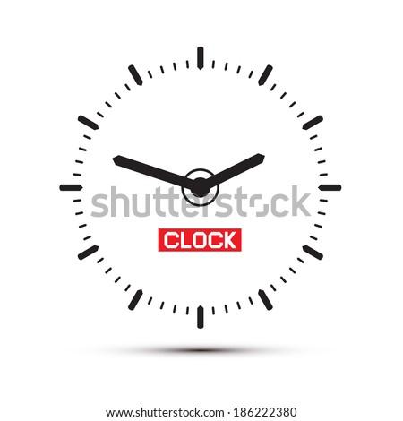 Abstract Alarm Clock Illustration - stock vector