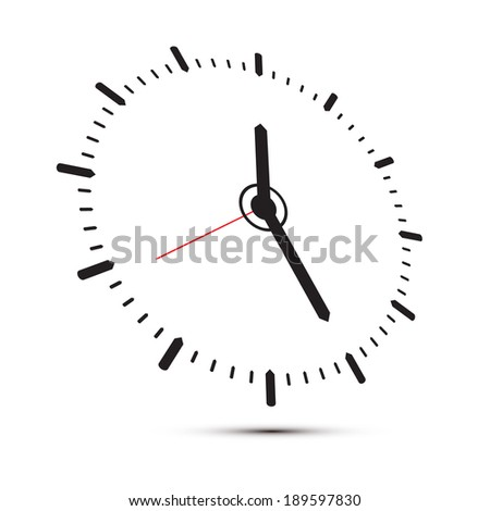 Abstract Alarm Clock Illustration Isolated on White Background - stock vector