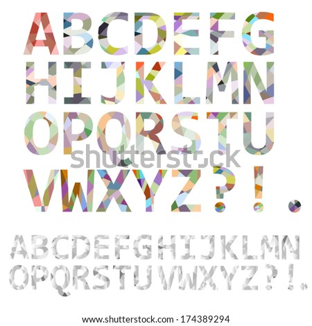 Abstract alphabet - stock vector
