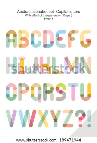 Abstract alphabet set - Capital letters ( 10eps ) style 1 - stock vector
