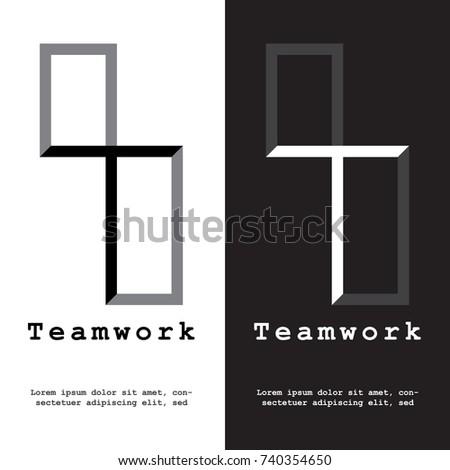 Abstract Alphabet T Logo Decorative English Stock Vector ...
