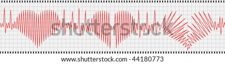 Abstract analyz of heart beating - stock vector