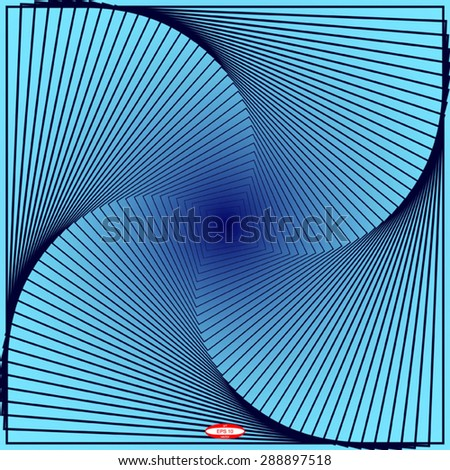 abstract angular dark blue pattern with curve cyan texture with turquoise stairs with indigo line on navy background. vector illustration - stock vector