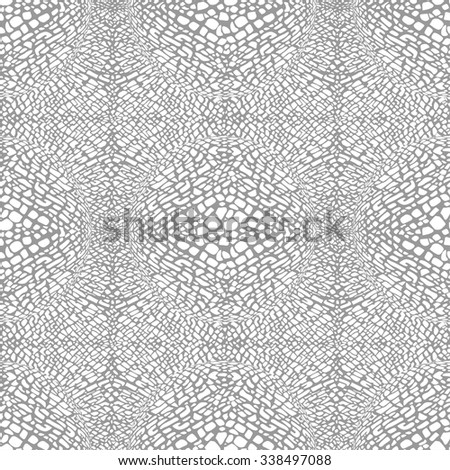 Abstract animal print, seamless vector pattern - stock vector