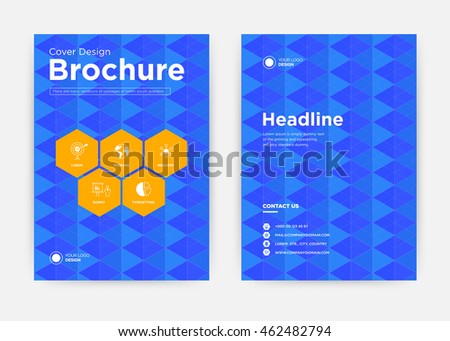 Abstract annual report brochure flyer design template vector, leaflet cover presentation texture flat background, layout in A4 size
