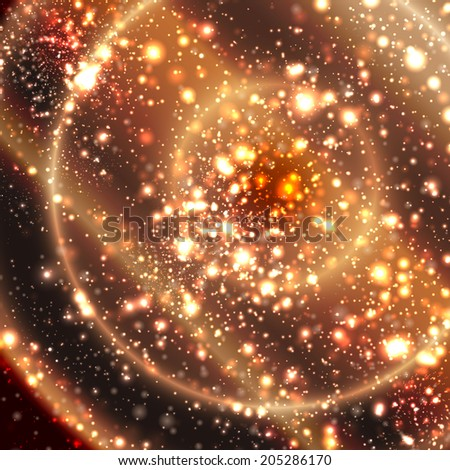 Abstract apocalyptic background cosmos space - stock vector
