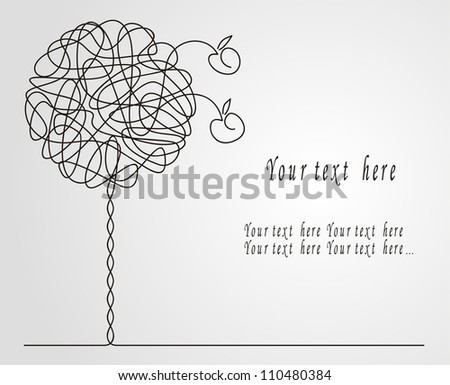 Abstract apple-tree. Vector illustration - stock vector