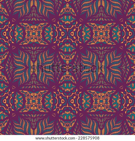 abstract arabic ornament vector pattern  - stock vector
