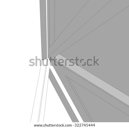 Abstract architectural background. Futuristic building
