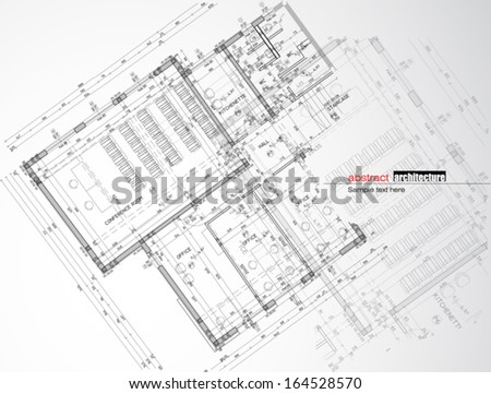 Abstract architecture - stock vector
