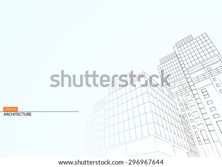 Abstract architecture background. - stock vector