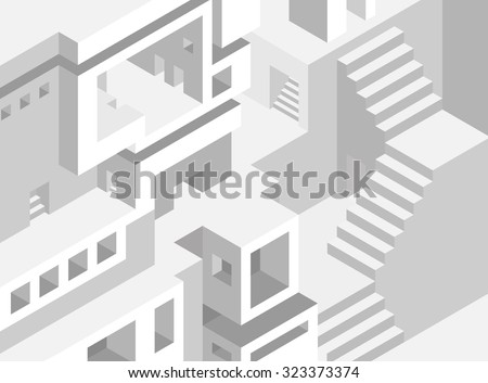 Abstract architecture background - stock vector