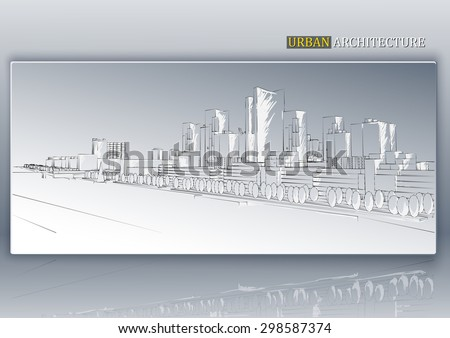 Abstract architecture background. Vector illustration. - stock vector