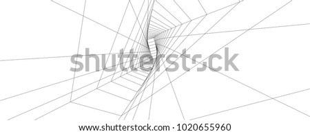 abstract architecture 3d