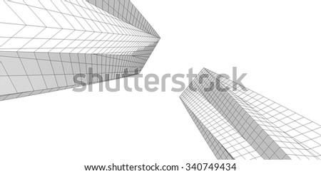 Abstract architecture. Geometric background