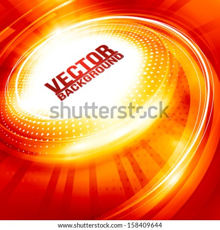 Abstract ardent background for hot party. Vector - stock vector