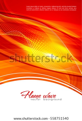 Abstract ardent background. Red and white color template with lighting effect. Bright cover design layout for corporate flyer, business book, booklet, brochure, poster, banner. Vector