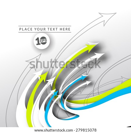 Abstract Arrow Background, eps10 illustration - stock vector