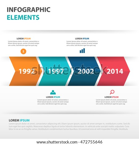 Abstract Arrow Business Timeline Infographics Elements Stock