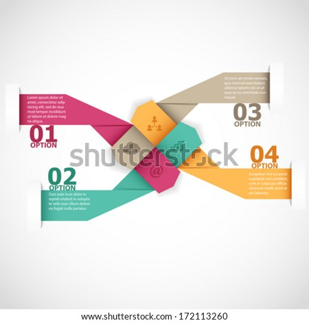Abstract arrow infographics template - stock vector