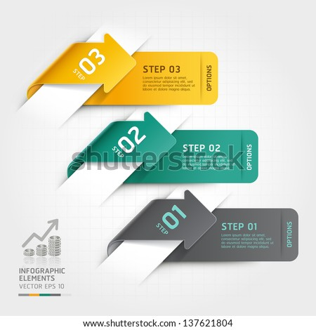 Abstract arrow infographics template. Vector illustration. can be used for workflow layout, diagram, number options, business step options, banner, web design - stock vector