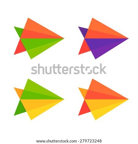 Abstract arrow logo, design template elements - stock vector