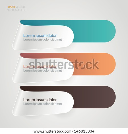 Abstract arrow step infographics template banner. Vector illustration.