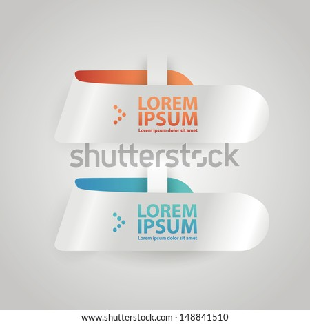 Abstract arrow step infographics template. Vector illustration.
