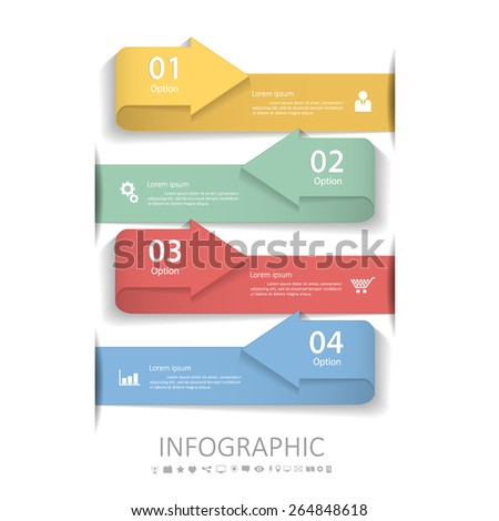 Abstract arrow 4 steps Vector eps10.