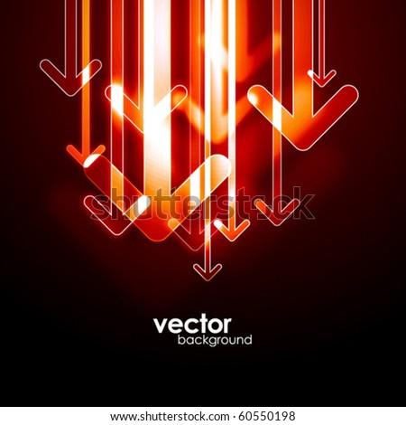 Abstract arrows background. Vector. - stock vector
