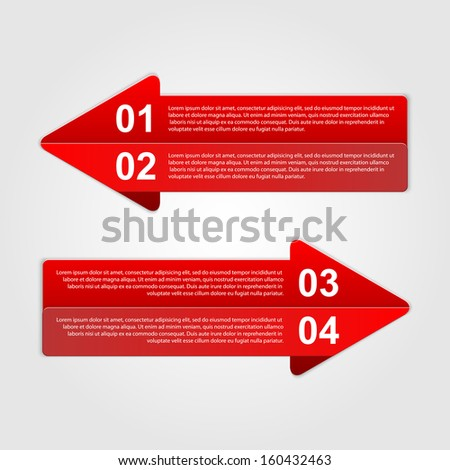 Abstract arrows infographic. Modern design template