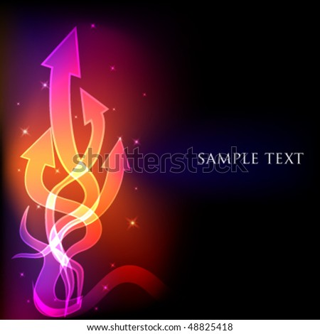 Abstract arrows light background. Vector illustration