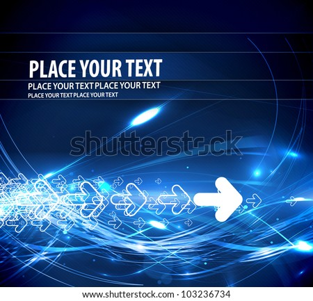 Abstract arrows lighting background, eps10 vector illustration. - stock vector