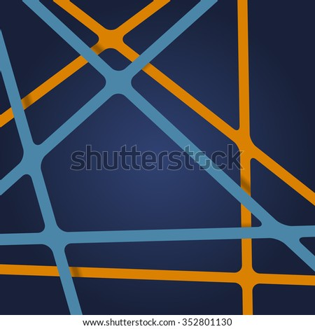 Abstract art background. Abstract art lines. Overlapping abstract art. Ribbons abstract art. Streaks abstract art. Abstract art tapes. Abstract art stripes. Abstract art 3d background. - stock vector