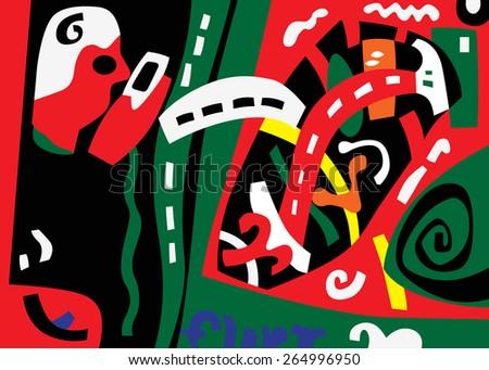 abstract art illustration  - stock vector