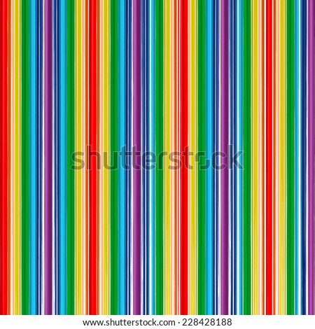 Abstract art rainbow curved lines color background - stock vector