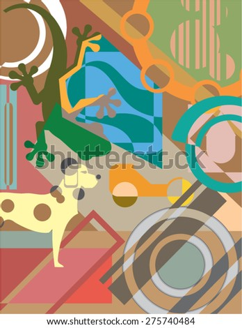 Abstract Art Vector Painting - stock vector