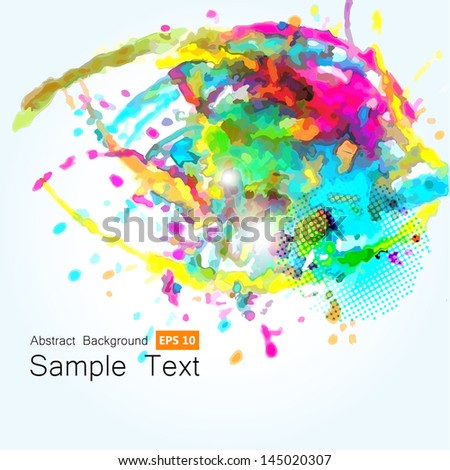 Abstract artistic Background by Watercolor blots