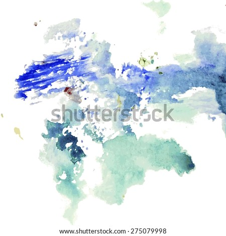 Abstract artistic background of blots - stock vector