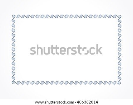 abstract artistic black border vector illustration - stock vector