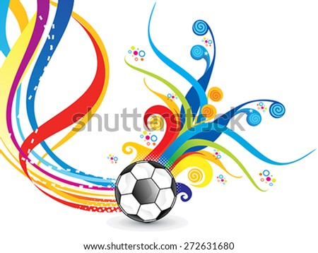 abstract artistic colorful football explode vector illustration - stock vector