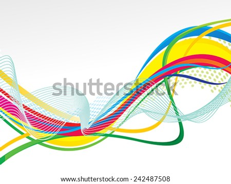 abstract artistic colorful line wave background vector illustration - stock vector
