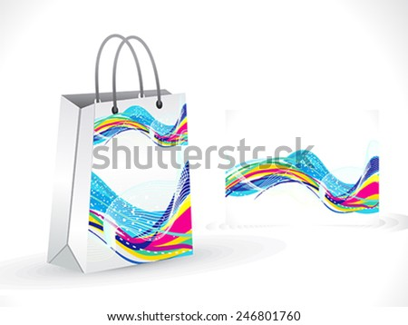 abstract artistic colorful shopping bag vector illustration - stock vector