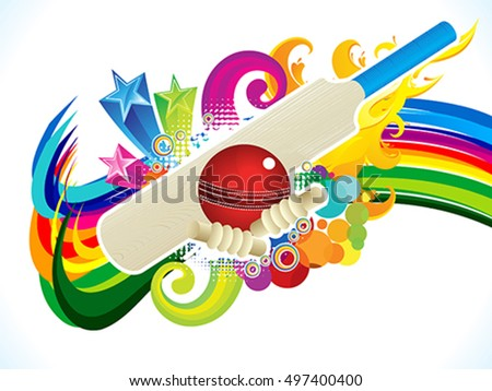 abstract artistic cricket background vector illustration