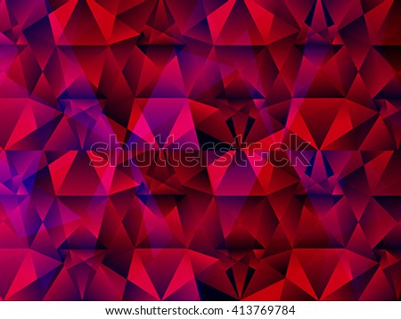 abstract artistic crystal background vector illustration - stock vector