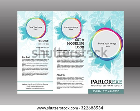 abstract artistic detailed parlor flyer vector illustration - stock vector