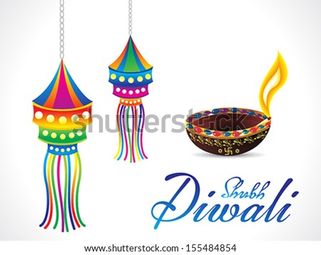 abstract artistic diwali background vector illustration - stock vector