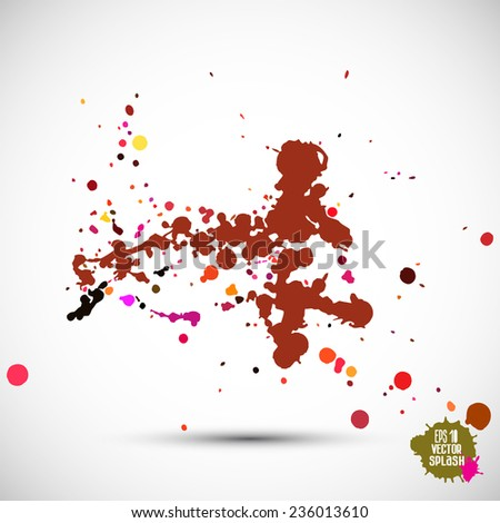 Abstract artistic element forming by blots - stock vector