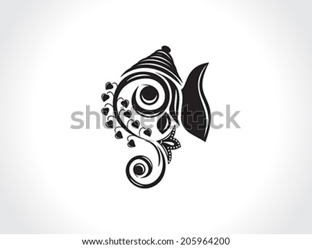 abstract artistic ganesha background vector illustration - stock vector