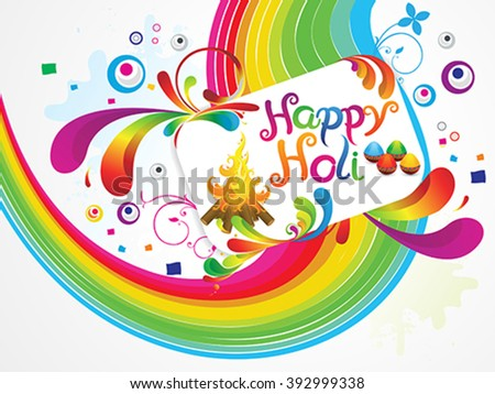 abstract artistic happy holi background vector illustration - stock vector